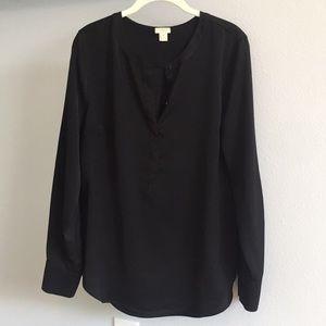 J Crew Black blouse